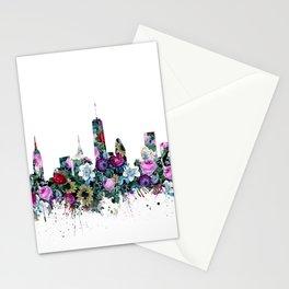 new york skyline floral 2 Stationery Cards