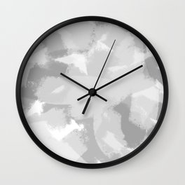 Gray and White Abstract Wall Clock