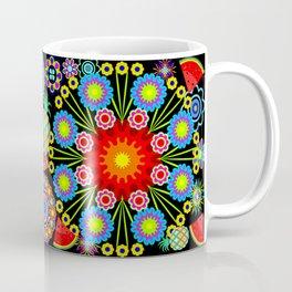 Mandalas & Exotic Fruits Pattern Coffee Mug
