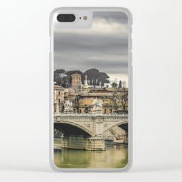 Tiber River Rome Cityscape Photo Clear iPhone Case