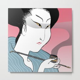 japanese woman 01 Metal Print