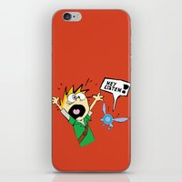 calvin hobbes iPhone & iPod Skins featuring Calvin the Timeless Hero by DonCorgi