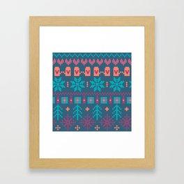 Fair Isle Christmas Framed Art Print