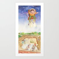 Art Print featuring Blast Off by Kate Solow