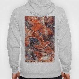Orange marble watercolor Hoody