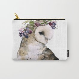 Flower Crowned Barn Owl Carry-All Pouch