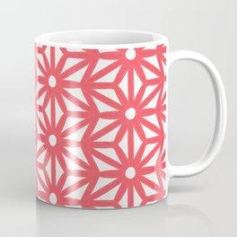 Asanoha Pattern - Coral Coffee Mug