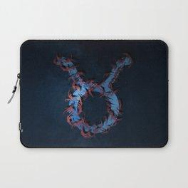 Taurus Zodiac Sign. Abstract night sky. Laptop Sleeve