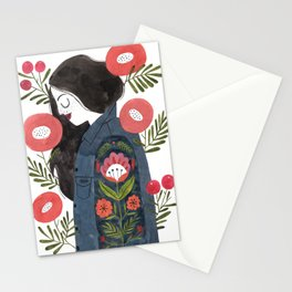 Hippie Girl Stationery Cards