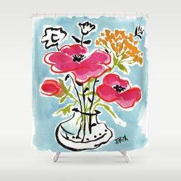 Poppy Impromptu Shower Curtain