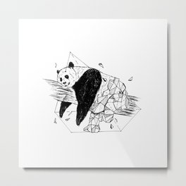 Geometric Season1:8 Panda Metal Print