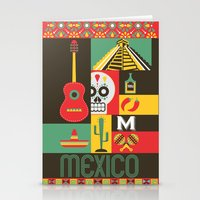 mexico Stationery Cards featuring Mexico by Victor Anaya