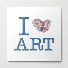 I Heart Art Metal Print