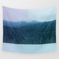 oregon Wall Tapestries featuring Oregon Winter by Leah Flores