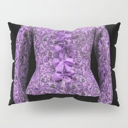 Lilac 17th century bodice jacket print Pillow Sham
