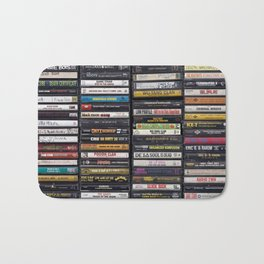 Old 80's & 90's Hip Hop Tapes Bath Mat
