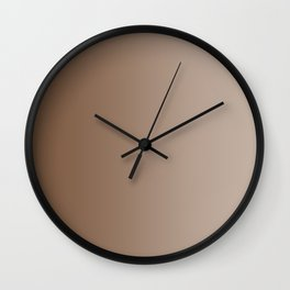 Brown to Pastel Brown Vertical Linear Gradient Wall Clock
