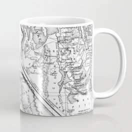Vintage Map of California (1860) BW Coffee Mug