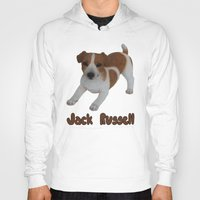 jack russell Hoodies featuring Jack Russell!  by Al's Visions