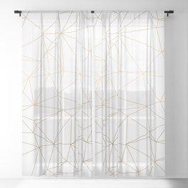 Geometric Gold Minimalist Design Sheer Curtain