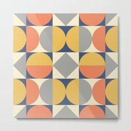 Mid Century Modern Geometric Pattern 824 Metal Print