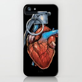 Heart Grenade iPhone Case
