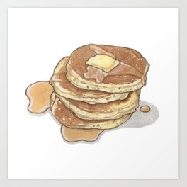 Breakfast & Brunch: Pancakes Art Print