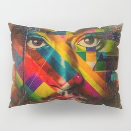 African American Oil Painting 26th Street Miami, Florida Mural 'Legends of Hip Hop' Pillow Sham