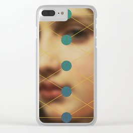 Her Stare Clear iPhone Case