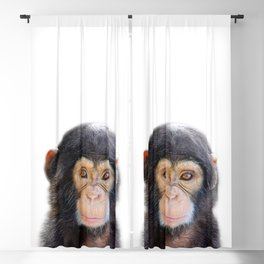 Baby Monkey, Baby Animals Art Print By Synplus Blackout Curtain