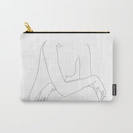 Nude figure line drawing illustration - Dot Carry-All Pouch