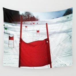 Racing Gates Wall Tapestry