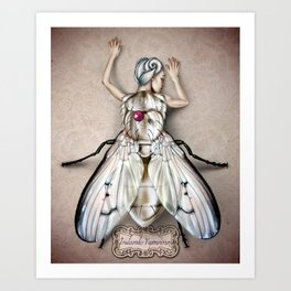 White Fly Art Print