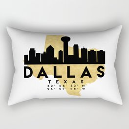 DALLAS TEXAS SILHOUETTE SKYLINE MAP ART Rectangular Pillow