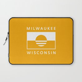 Milwaukee Wisconsin - Gold - People's Flag of Milwaukee Laptop Sleeve