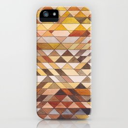 Triangle Pattern Fall Colors iPhone Case