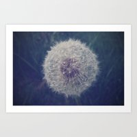 DANDELION BLOWBALL Art Print