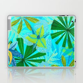 My blue abstract Aloha Tropical Jungle Garden Laptop & iPad Skin