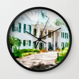 White Palm House Wall Clock