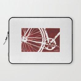 Dark Red Bike Laptop Sleeve