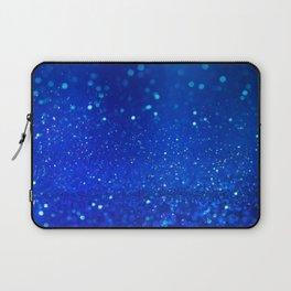 Abstract blue bokeh light background Laptop Sleeve