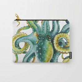Octopus Tentacles Green Watercolor Art Carry-All Pouch