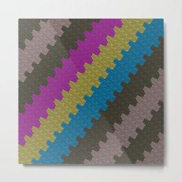 Colorful Zigzag Pattern Metal Print