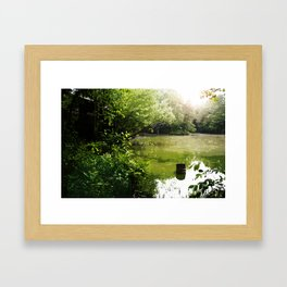 Black Bridge Swampland Framed Art Print
