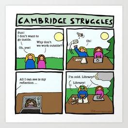 Cambridge struggles: Sun Art Print