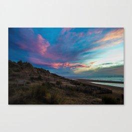 CLOUDY BEACH SUNSET Canvas Print