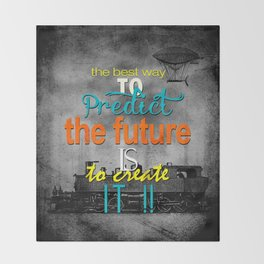 Create the future Throw Blanket
