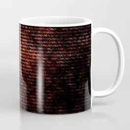 Dark brown red brush Coffee Mug