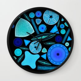 Diatoms Wall Clock
