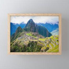 Breathtaking Machu Picchu Framed Mini Art Print
